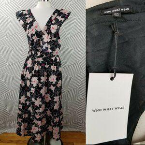 Plus Size 2X Dress Floral Ruffle Maxi hawaiian